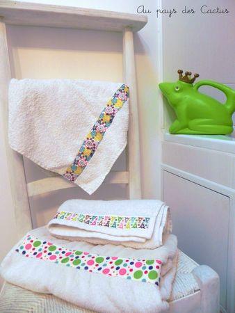 DIY customiser serviettes bain rubans Au pays des Cactus 5