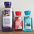 Mes gels douche de l'hiver bath and body works