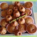 Muffins au fromage blanc, rhubarbe et fraise