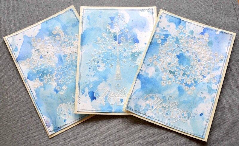 Carte de voeux aquarelles 3 - Janvier 2018