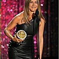 Jennifer Aniston leather minidress 217