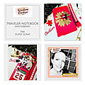 Papeterie creative : traveler notebook de noël par oupsy scrap