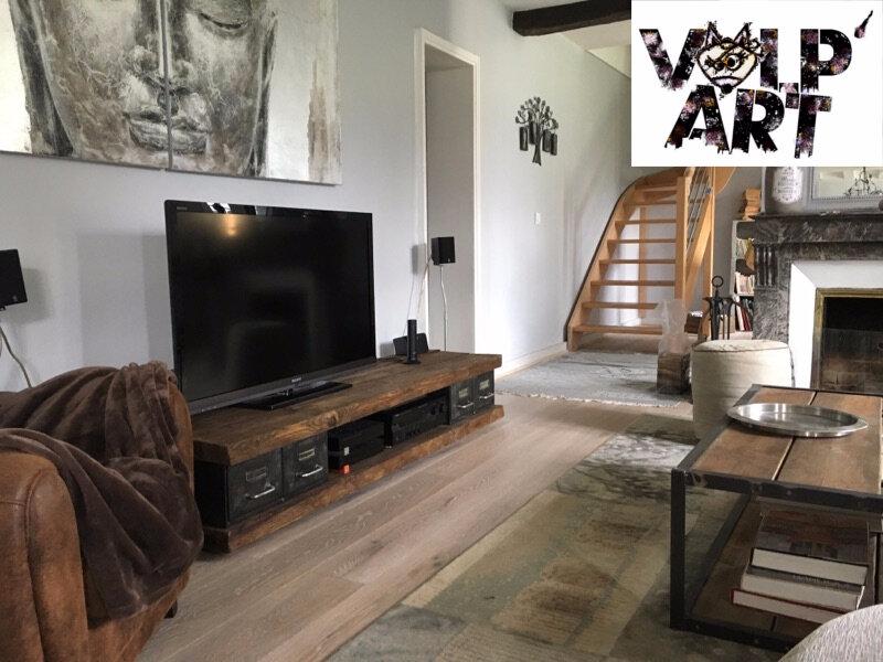 Meuble télé industriel pour Denis en place - Volp\'Art et Mimi