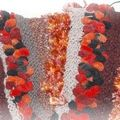 Accessoires tricot : echarpe en cours