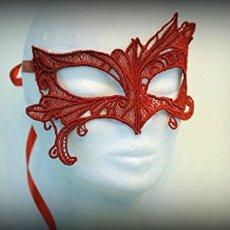 masque venitien amd a coudre rouge