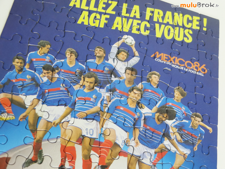 FOOTBALL-Mexico-86-Puzzle-AGF-6-muluBrok-Vintage