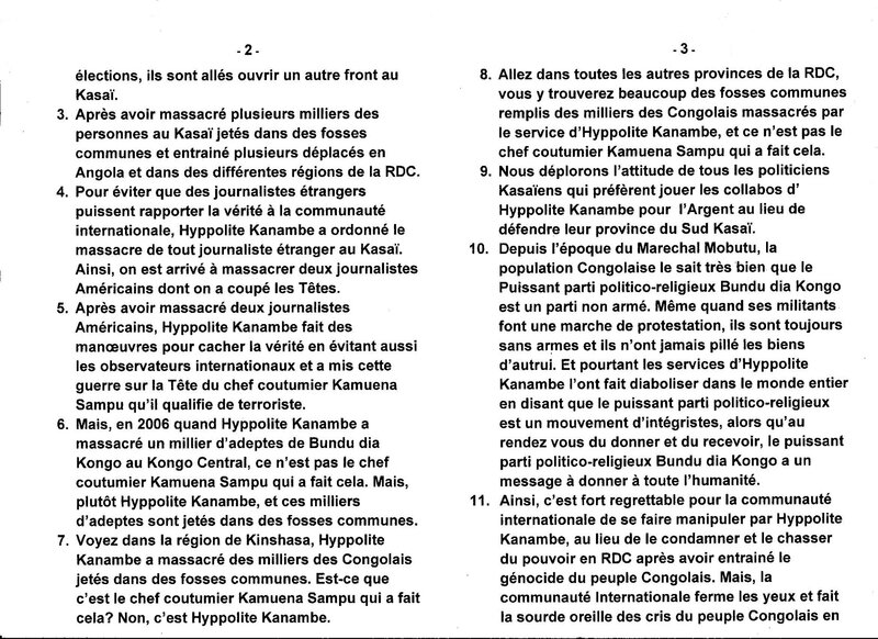 LE GRAND MAITRE MUANDA NSEMI DENONCE LES MANOEUVRES D'HYPPOLITE KANAMBE POUR EVITER LES ELECTIONS b