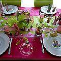 Ma table de pâques: la table aux lapins, rose et verte, pour 2013............