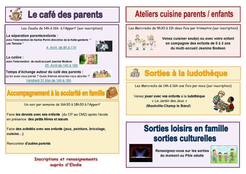 rendez-vous des parents Avril à Juin 2019-page intérieur