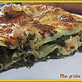 Lasagnes aux épinards et saumon