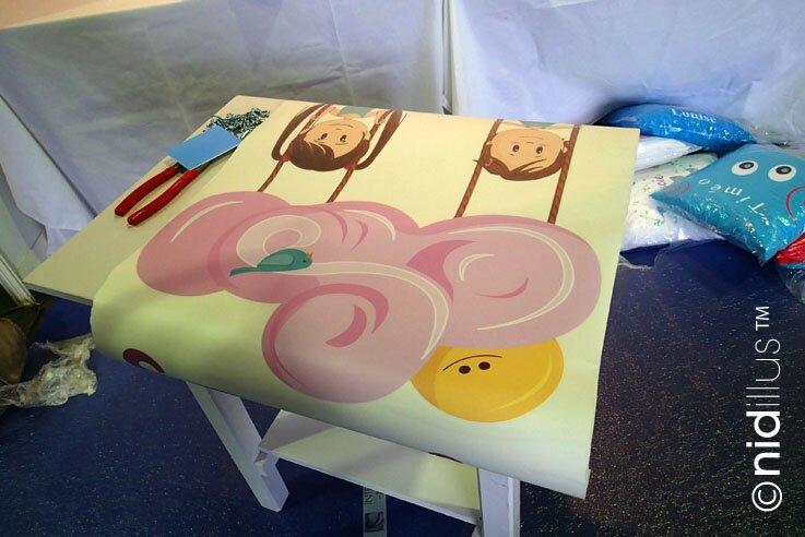 salon baby stand nidillus installation4 sticker