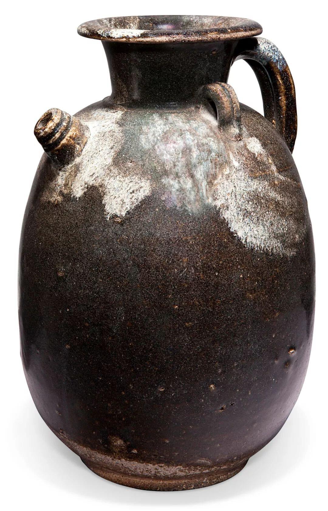A splash-glazed stoneware ewer, Tang dynasty (AD 618-907)