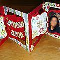 Carte accordéon sizzix, bonnes fêtes de fin d'année !