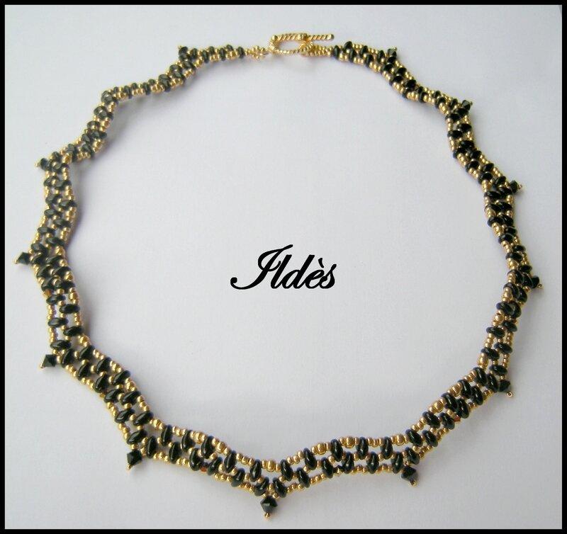 collier jo noir doré 1