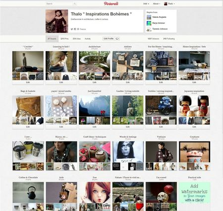 boards pinterest juillet 2012