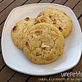 Cookies à la noisette et au chocolat blanc