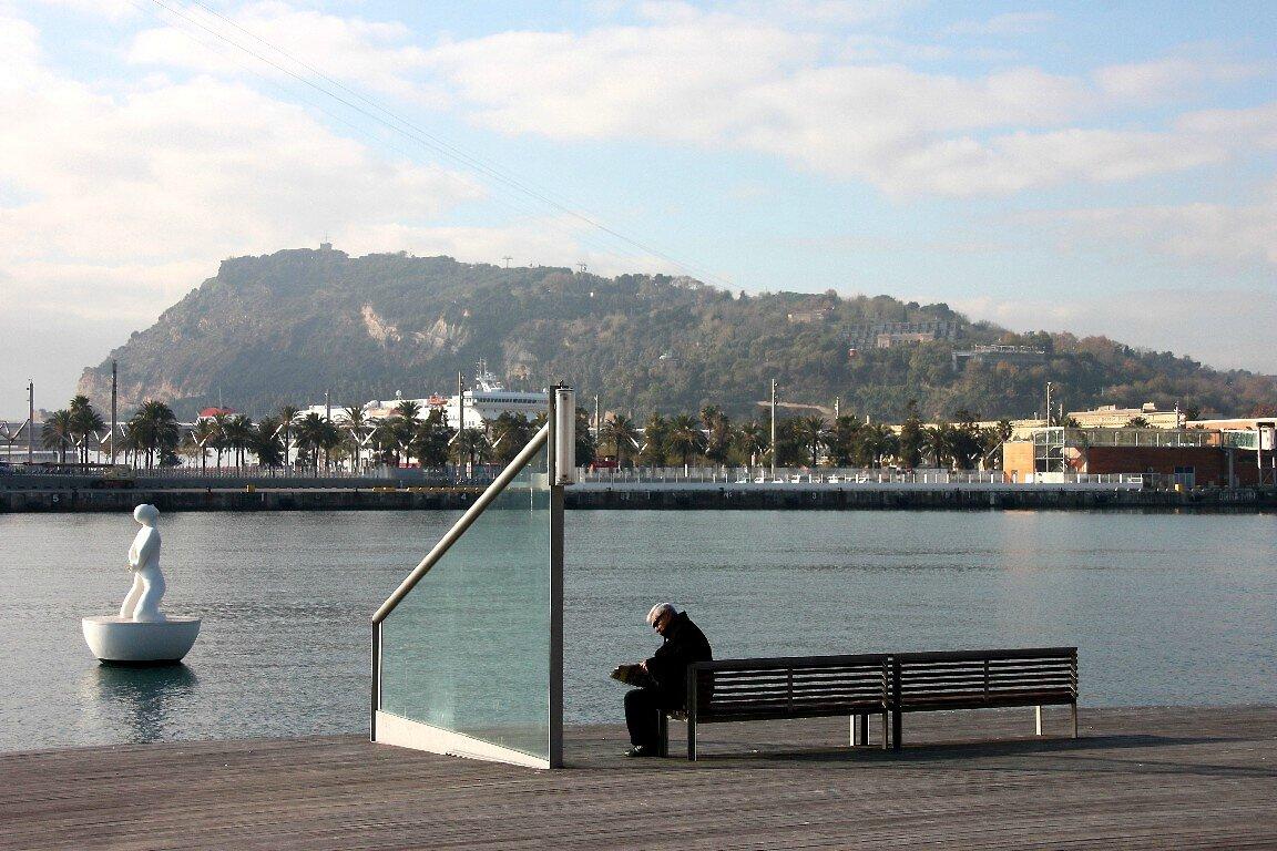 Barcelone, le port, Lecteur_6396