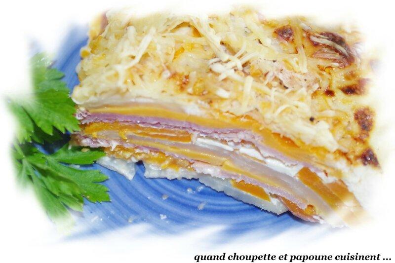 gratin de céleri, carottes et jambon-5212