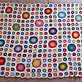 CAL Happy colours Blankett alias le plaid Bulles