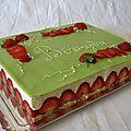 Le fraisier traditionnel