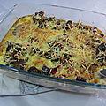Clafoutis aux aubergines et jambon