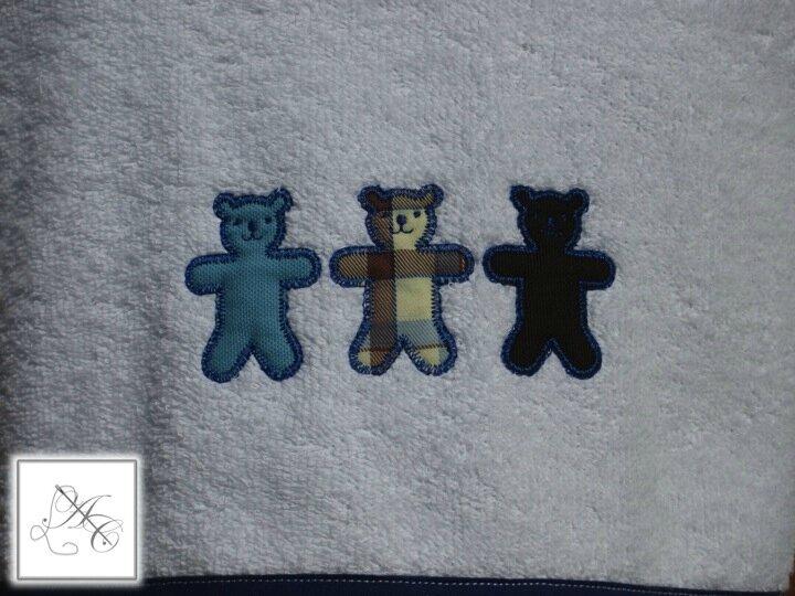 Appliqué 3 oursons