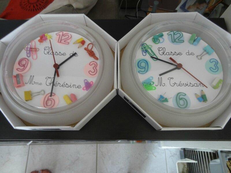 Horloges custumisées pour maitre-sse