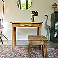 Table vintage bois brut