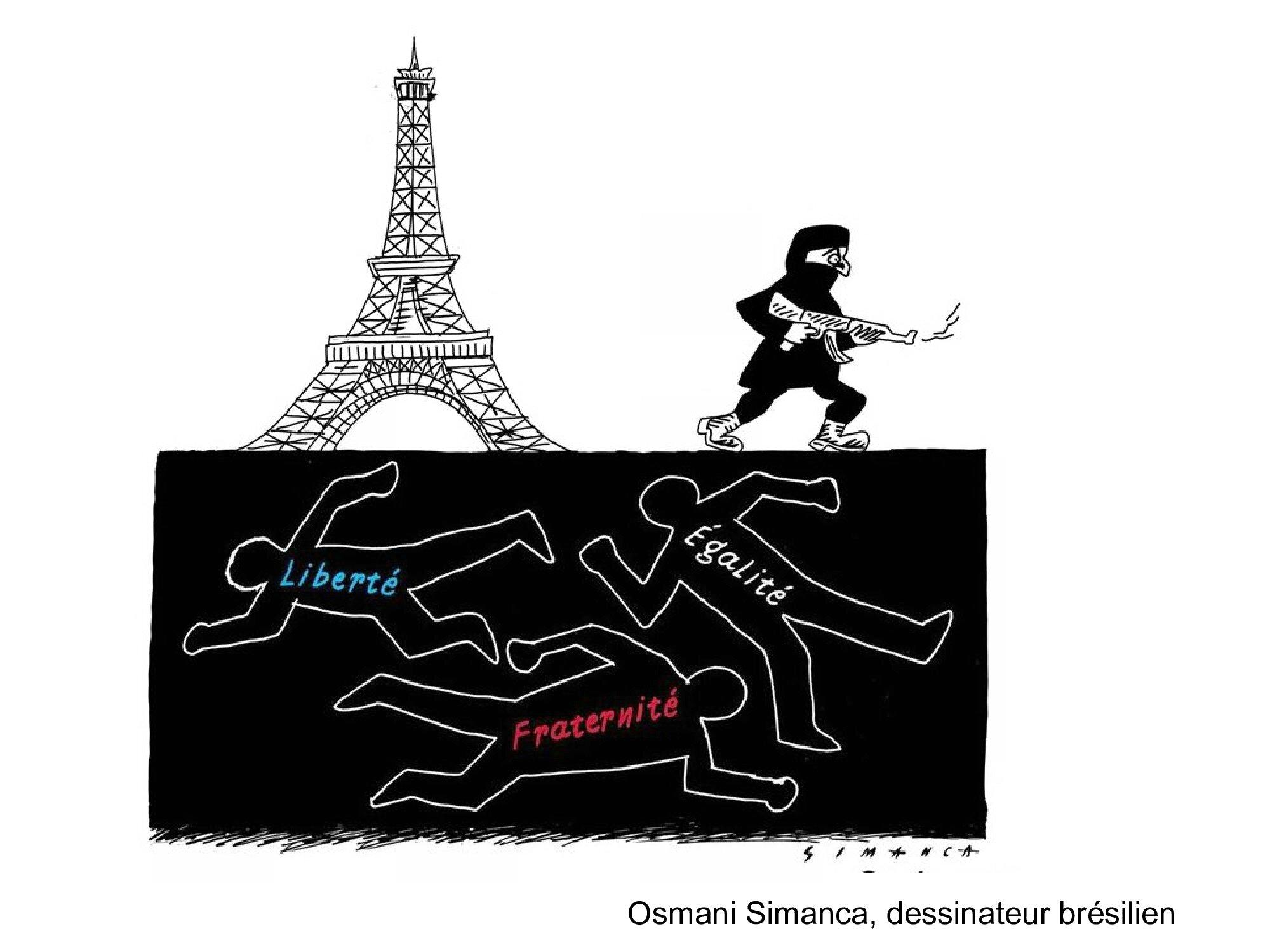 HOMMAGE des dessinateurs aux victimes des attentats de Paris 13 novembre 2015 (35)