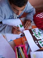 Mouad et son dessin