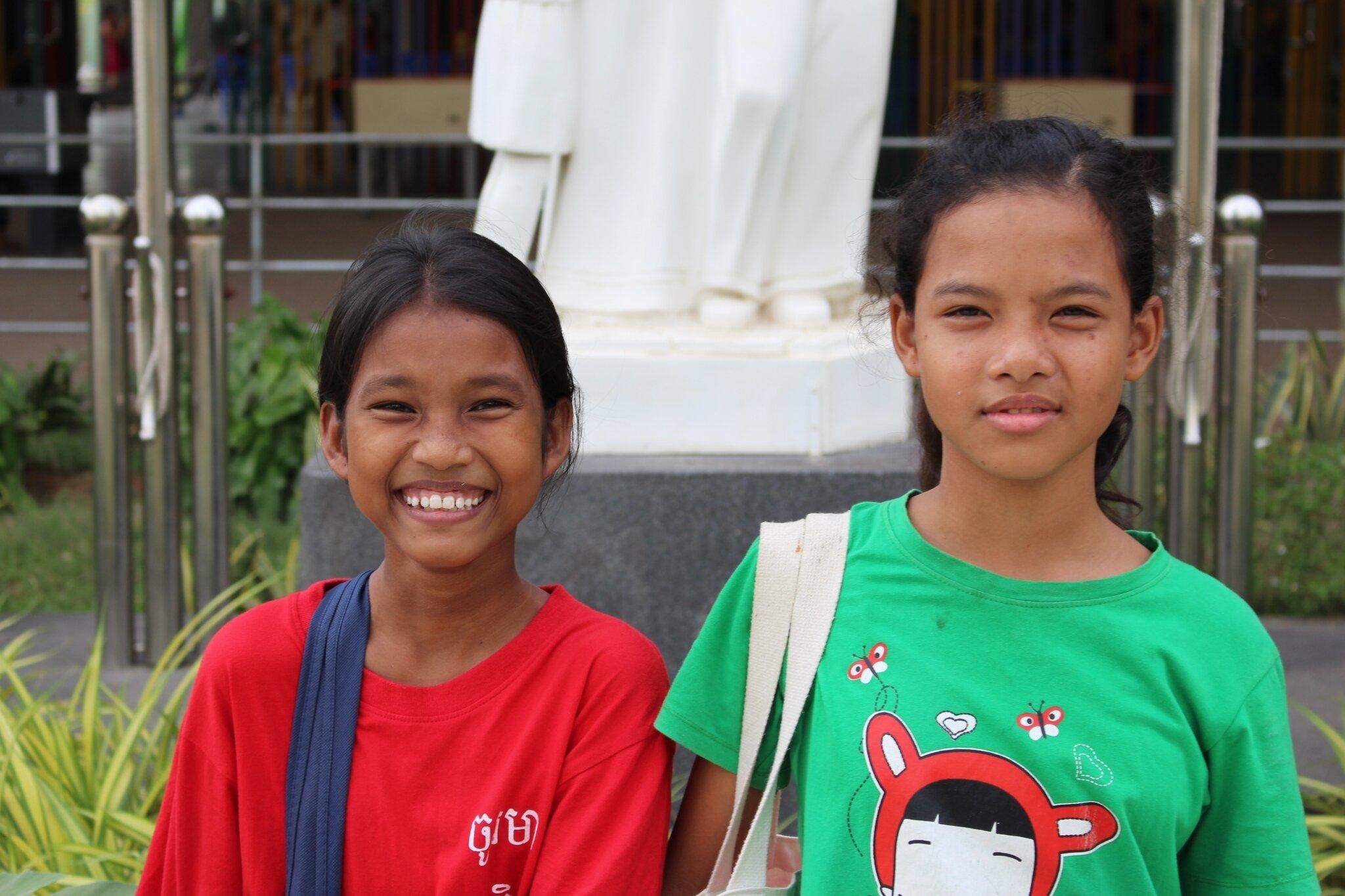 Visite de Sokchea et Srey-Ea chez Don Bosco Teuk-Thla