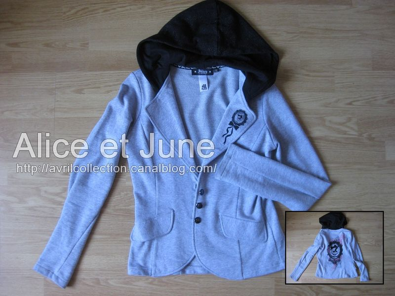 Abbey Dawn Skull Hooded Blazer