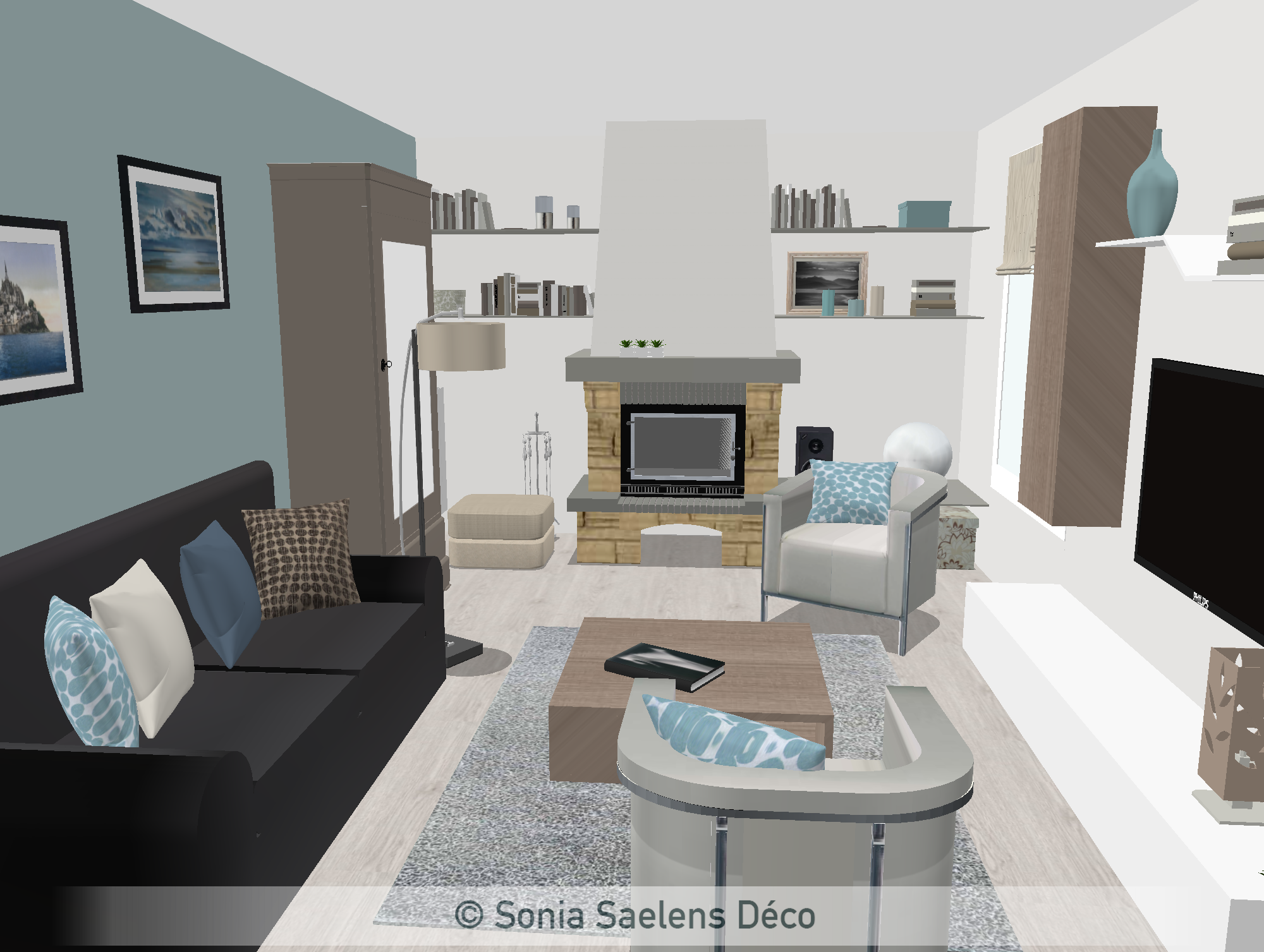 projet client relooking d 39 une pi ce vivre sonia saelens d co. Black Bedroom Furniture Sets. Home Design Ideas