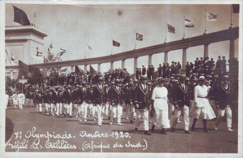 CPA Anvers 1920 Défilé Afrique du Sud R