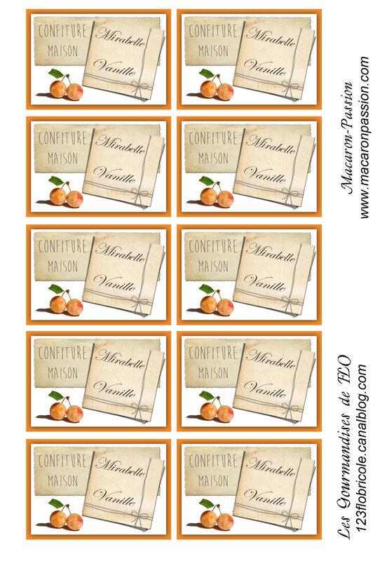 étiquettes confiture mirabelle vanille blog