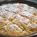 Basboussa à la noix de coco sans gluten (gâteau de semoule).