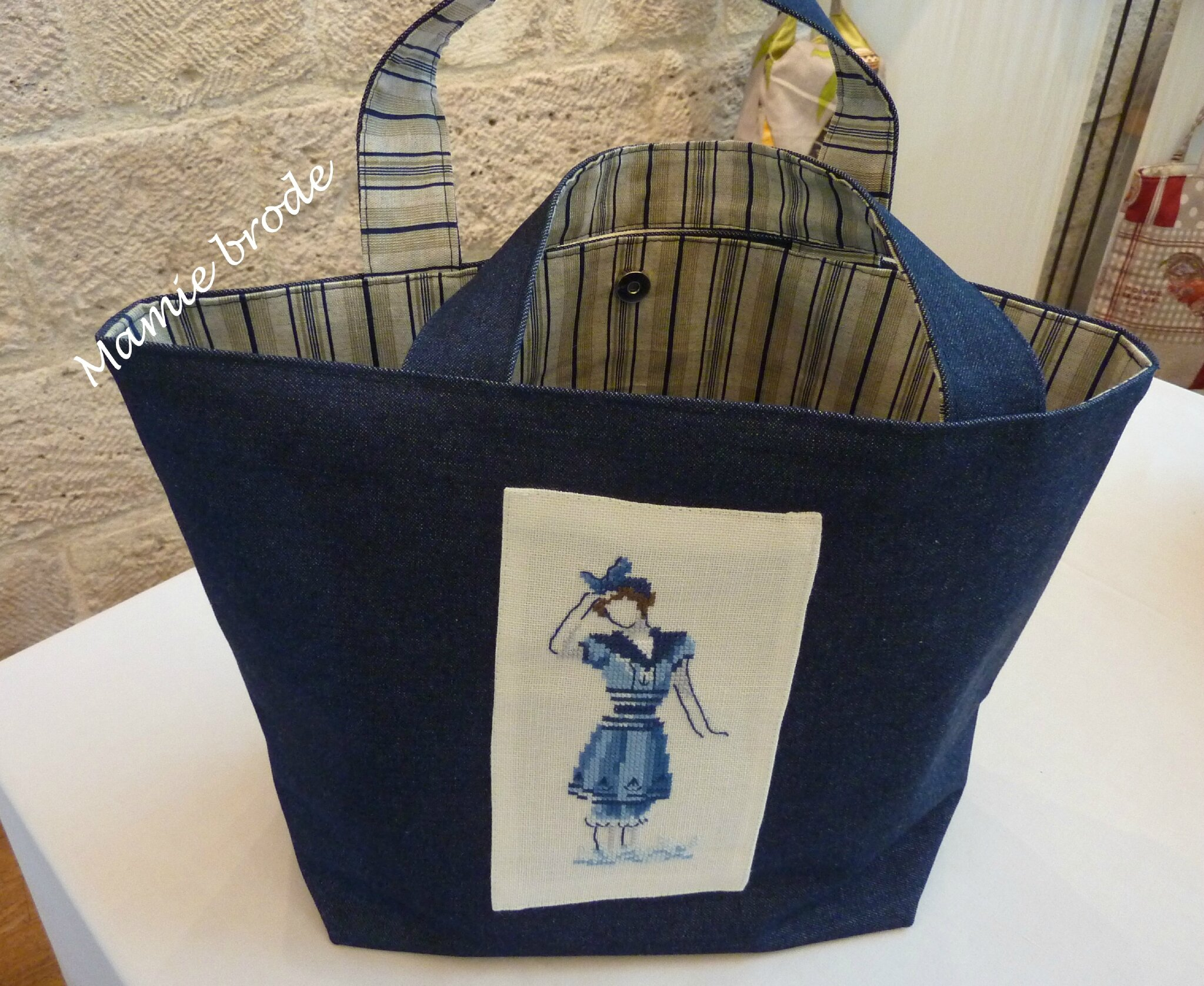17) Sac - Broderie Véronique Enginger