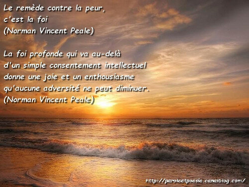 Foi et adversité - Norman Vincent Peale (Citation)