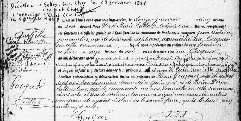 1893 N Queff à Penhars