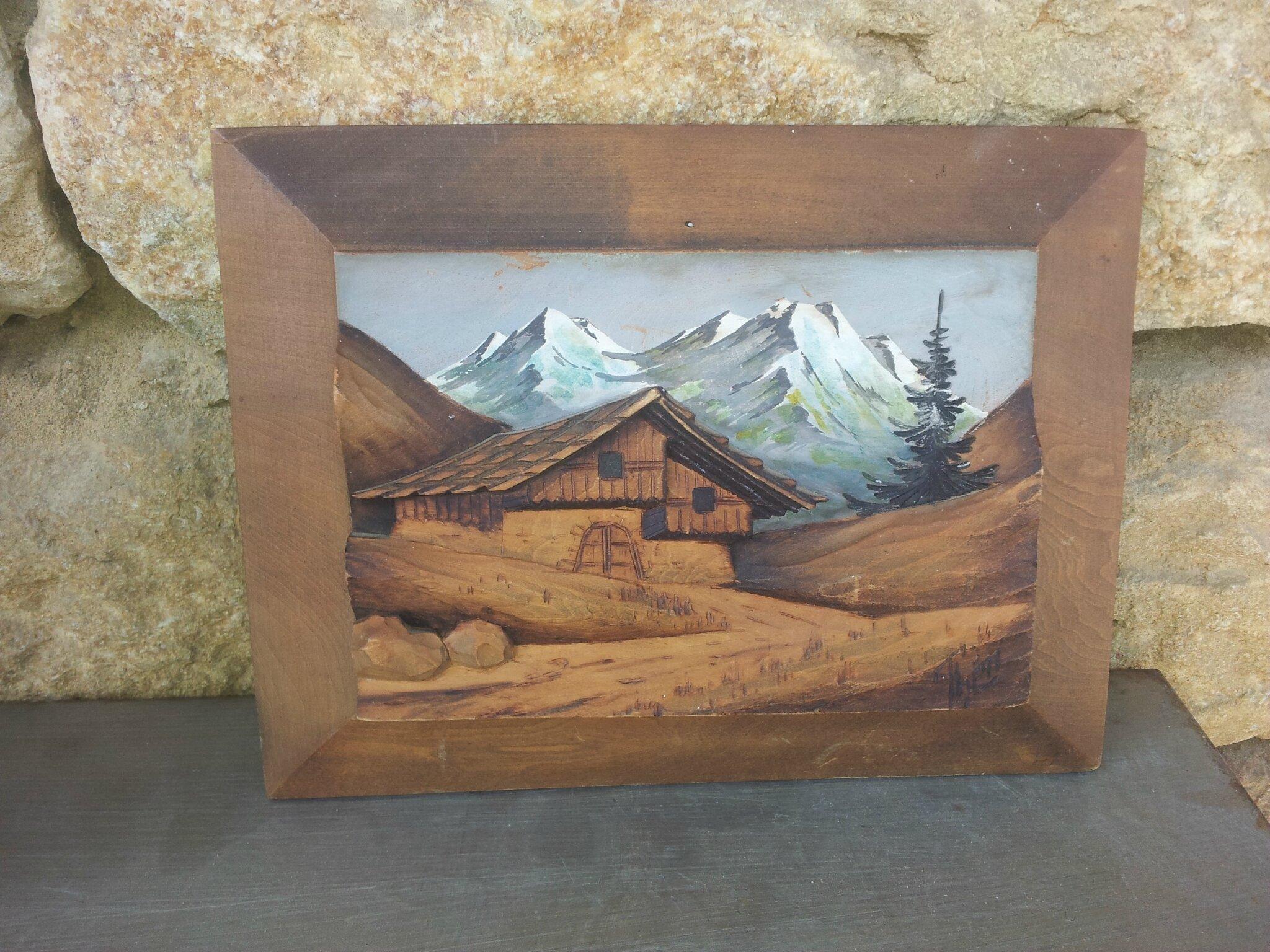 cadre chalet à la montagne