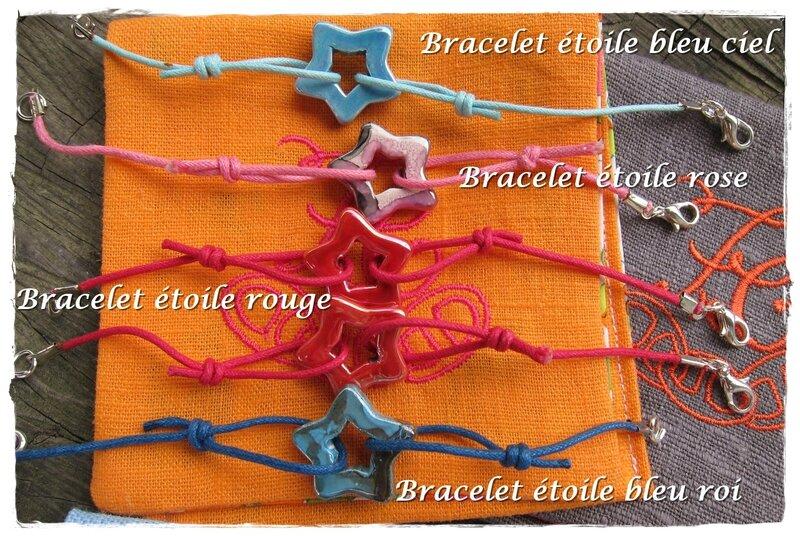 Bracelets étoiles 8 euros
