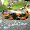 Bracelet ethnique nature homme femme orange et marron