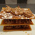 2014 : Millefeuilles chocolat praliné