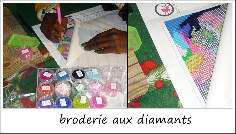 broderie diamants