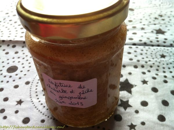 Confiture rhubarbe-pêches-gingembre (4)