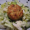 Muffins courgette-crevettes-fromage