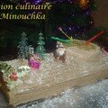Ma <b>Bûche</b> de Noël à la poire et au praliné