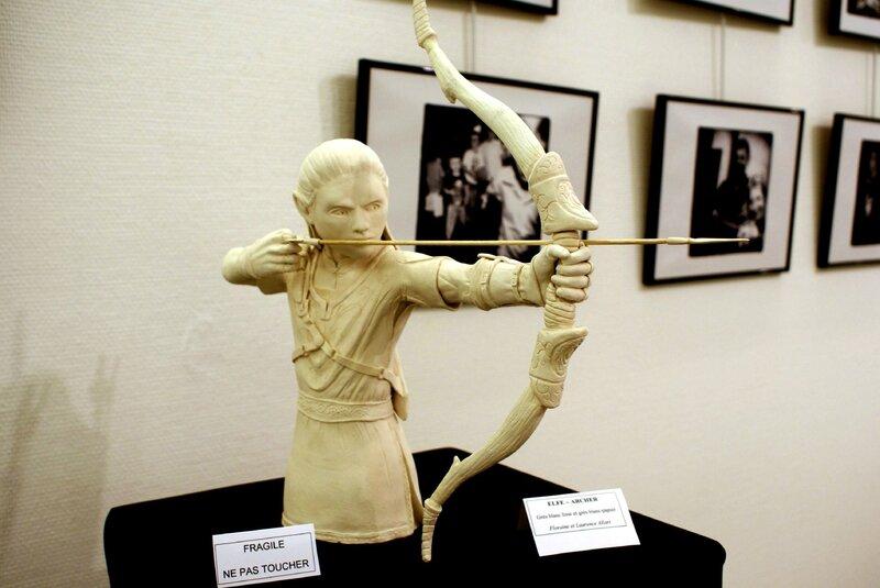 L'elfe Archer de Floraine à l'exposition