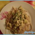 Wok de curry de poulet et lait de coco
