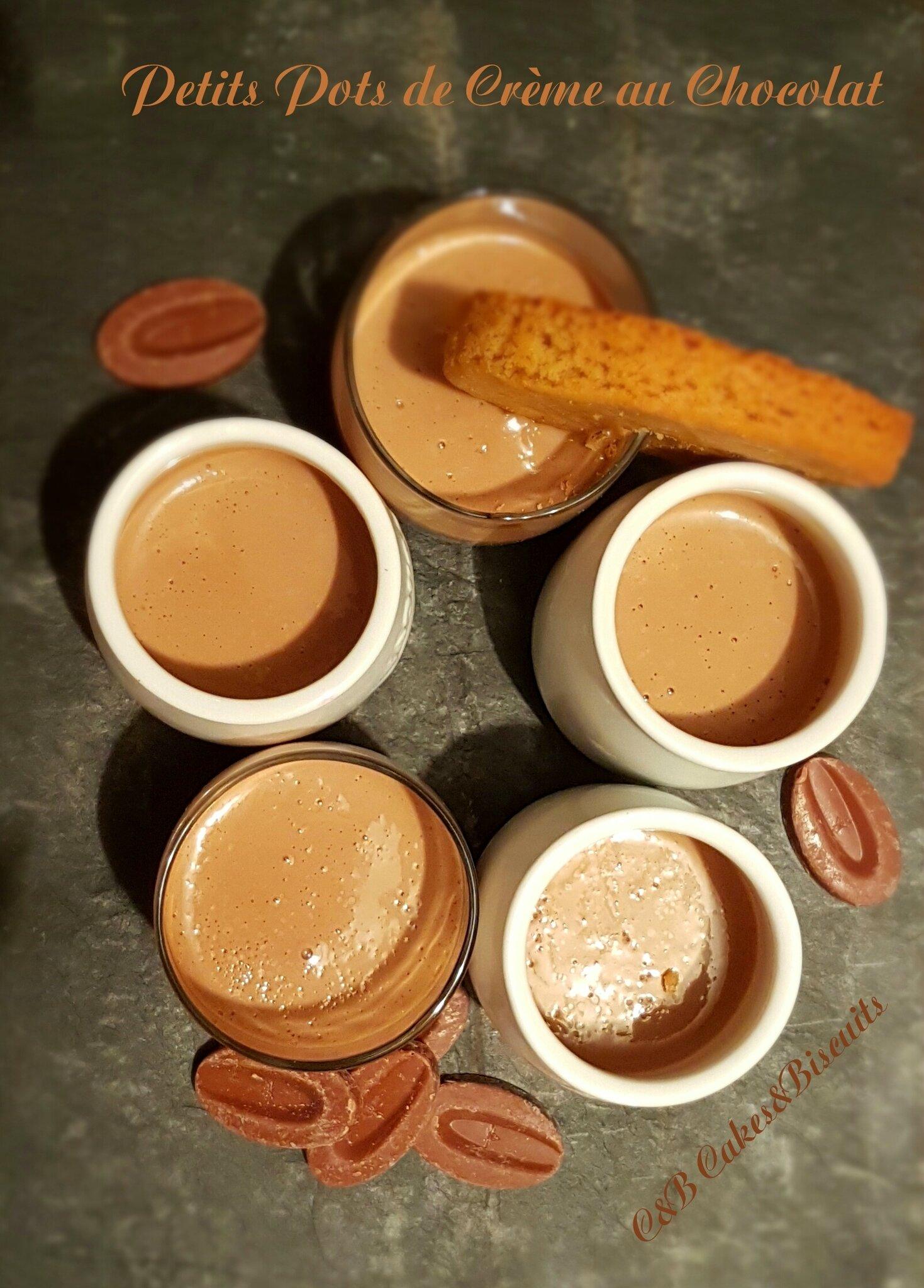 Les Petits Pots de Crème au Chocolat